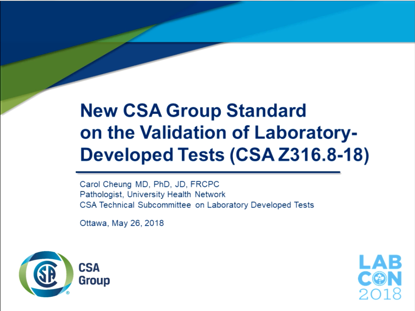 New CSA Group Standard on the Validation of Laboratory-Developed